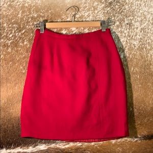 Vintage red mini skirt